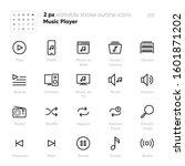 music player outline vector... | Shutterstock .eps vector #1601871202
