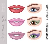 woman eyes and lips | Shutterstock .eps vector #160187606