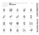 microphone speak outline vector ... | Shutterstock .eps vector #1601880505