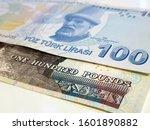 one hundred egyptian pound vs... | Shutterstock . vector #1601890882
