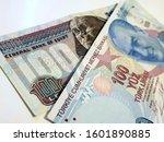 one hundred egyptian pound vs... | Shutterstock . vector #1601890885