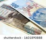 one hundred egyptian pound vs... | Shutterstock . vector #1601890888