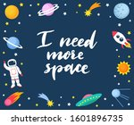 i need more space lettering... | Shutterstock .eps vector #1601896735