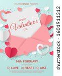 valentine's day party poster... | Shutterstock .eps vector #1601911312