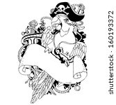 pirate parrot | Shutterstock .eps vector #160193372