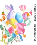 Happy Easter. Hand Drawn...