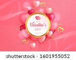 lovely valentine day background ... | Shutterstock .eps vector #1601955052