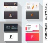 f letter logo professional... | Shutterstock .eps vector #1601956312