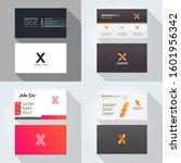 x letter logo professional... | Shutterstock .eps vector #1601956342
