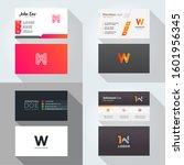 w letter logo professional... | Shutterstock .eps vector #1601956345