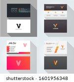 v letter logo professional... | Shutterstock .eps vector #1601956348
