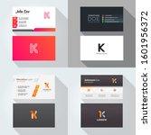 k letter logo professional... | Shutterstock .eps vector #1601956372