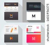 m letter logo professional... | Shutterstock .eps vector #1601956375