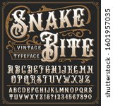 snake bite a vintage decorative ... | Shutterstock .eps vector #1601957035