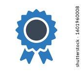 badge vector glyph  color icon   | Shutterstock .eps vector #1601960008