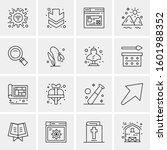 16 universal business icons... | Shutterstock .eps vector #1601988352