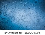 natural water drop on glass | Shutterstock . vector #160204196