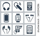 vector gadgets icons set ... | Shutterstock .eps vector #160204286