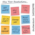 mix of new year resolution or... | Shutterstock . vector #160206998