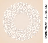 ornamental round lace pattern... | Shutterstock .eps vector #160208432