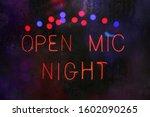 Open Mic Night Sign In Rainy...