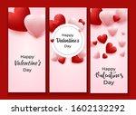 valentine's day vertical...   Shutterstock . vector #1602132292
