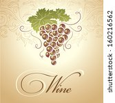 wine. bunch of grapes for... | Shutterstock .eps vector #160216562