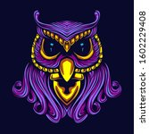 Glow Owl Art With Gold...
