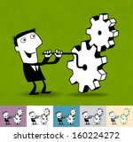 services   production. business ... | Shutterstock .eps vector #160224272
