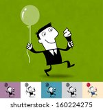 success. business cartoon... | Shutterstock .eps vector #160224275
