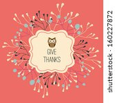 thanksgiving greeting card.... | Shutterstock .eps vector #160227872