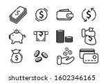 a set of money icons. elements... | Shutterstock .eps vector #1602346165
