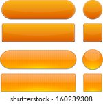 Set Of Blank Orange Buttons For ...