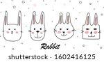 beautiful cartoon doodle cute...   Shutterstock .eps vector #1602416125