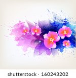 abstract floral artistic... | Shutterstock .eps vector #160243202