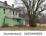 Ugly Green Abandoned Weathered...