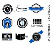 abstract,academic,academy,award,badge,banner,black,blue,book,bookcase,business,circle,classic,college,concept