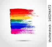artistic strokes of gouache... | Shutterstock .eps vector #160246472