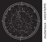 astrological celestial map of...   Shutterstock .eps vector #1602476995