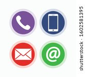 contact icons for your web...   Shutterstock .eps vector #1602581395
