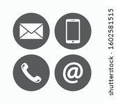 contact icons for website and... | Shutterstock .eps vector #1602581515