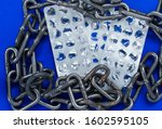 empty packaging from tablets in ... | Shutterstock . vector #1602595105