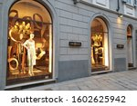 Small photo of MILAN, ITALY - 25 OCT 2019: Storefront of Tory Burch boutique in Montenapoleone fashion district. Tory Burch is an American fashion label owned, operated and founded by American designer Tory Burch.