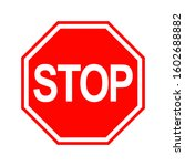 stop sign isolated on white... | Shutterstock .eps vector #1602688882