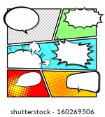 comic template vector | Shutterstock .eps vector #160269506