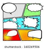 comic template vector | Shutterstock .eps vector #160269506