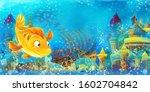 cartoon ocean and the mermaid... | Shutterstock . vector #1602704842