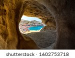 Matala Beach With Caves On The...
