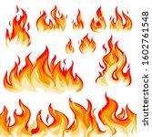 flame flat vector illustration... | Shutterstock .eps vector #1602761548