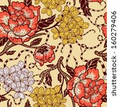 vector floral seamless pattern... | Shutterstock .eps vector #160279406